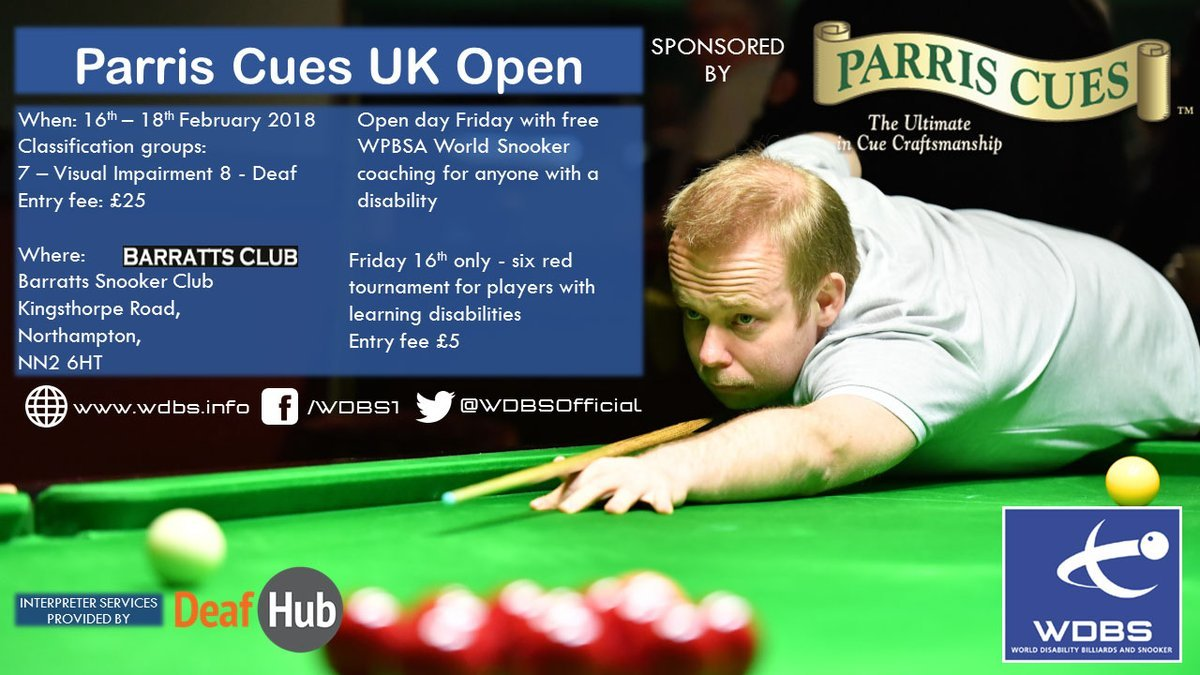 Parris Cues UK Open poster