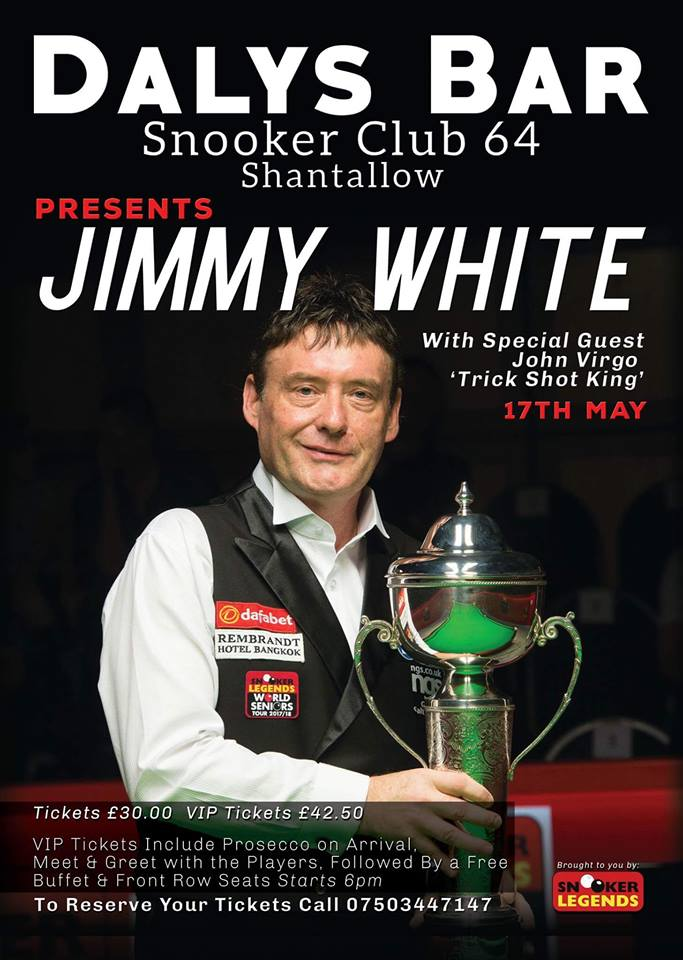 Jimmy White at Dalys Bar - 17 May 2018