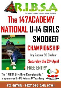 National Under 14 Girls Snooker Championship