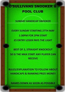 O'Sullivans Sunday Handicaps