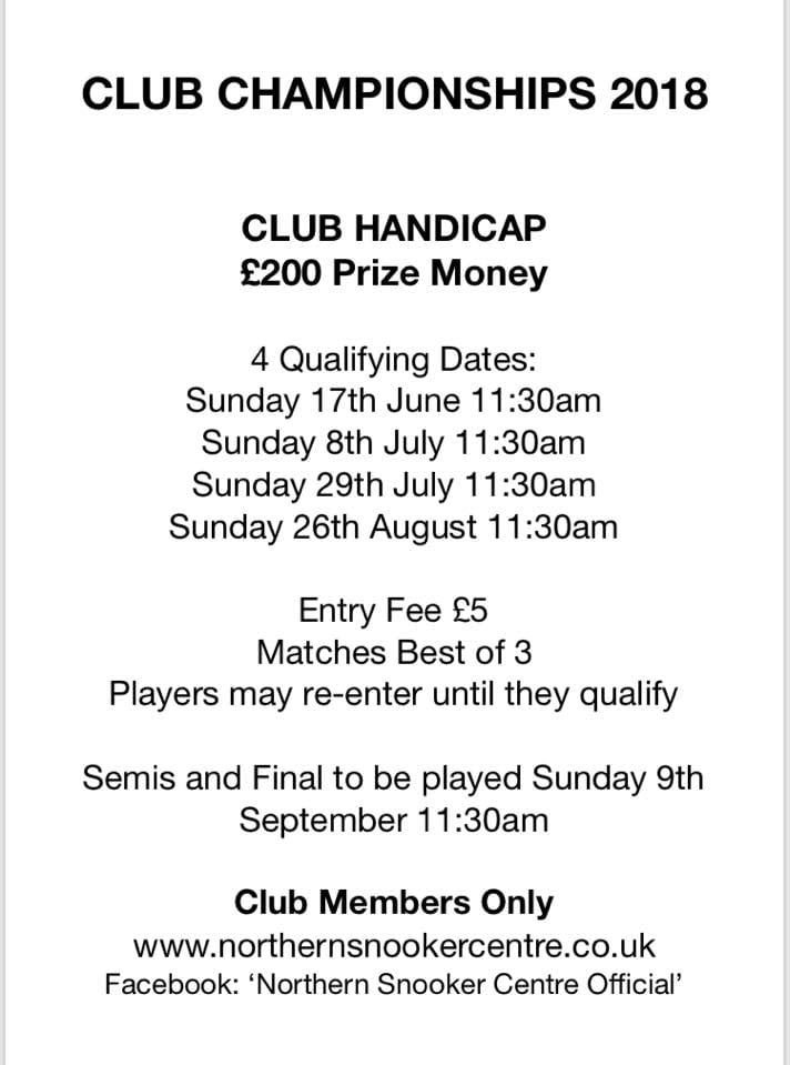 Club Handicap 2018