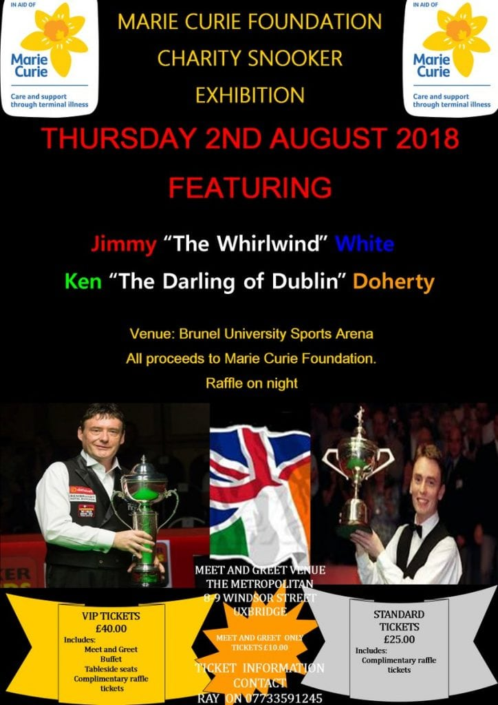 Snooker Exhibition Poster