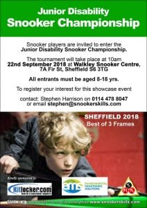 Junior Disability Snooker Championship