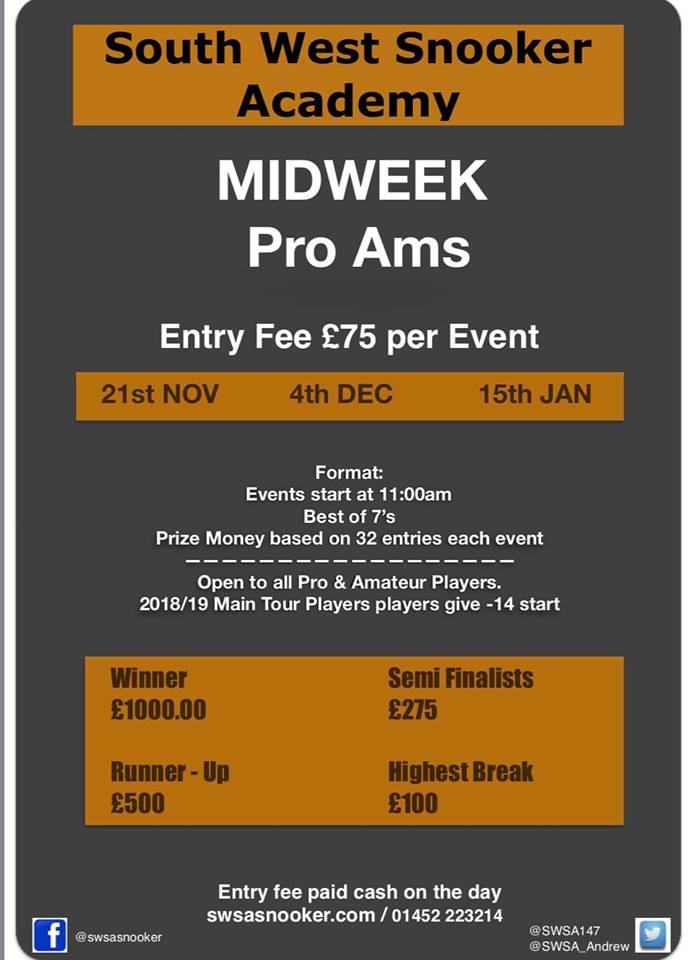 SWSA Mid Week Pro Ams