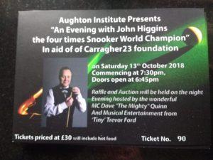 181013 John Higgins at Aughton Institute