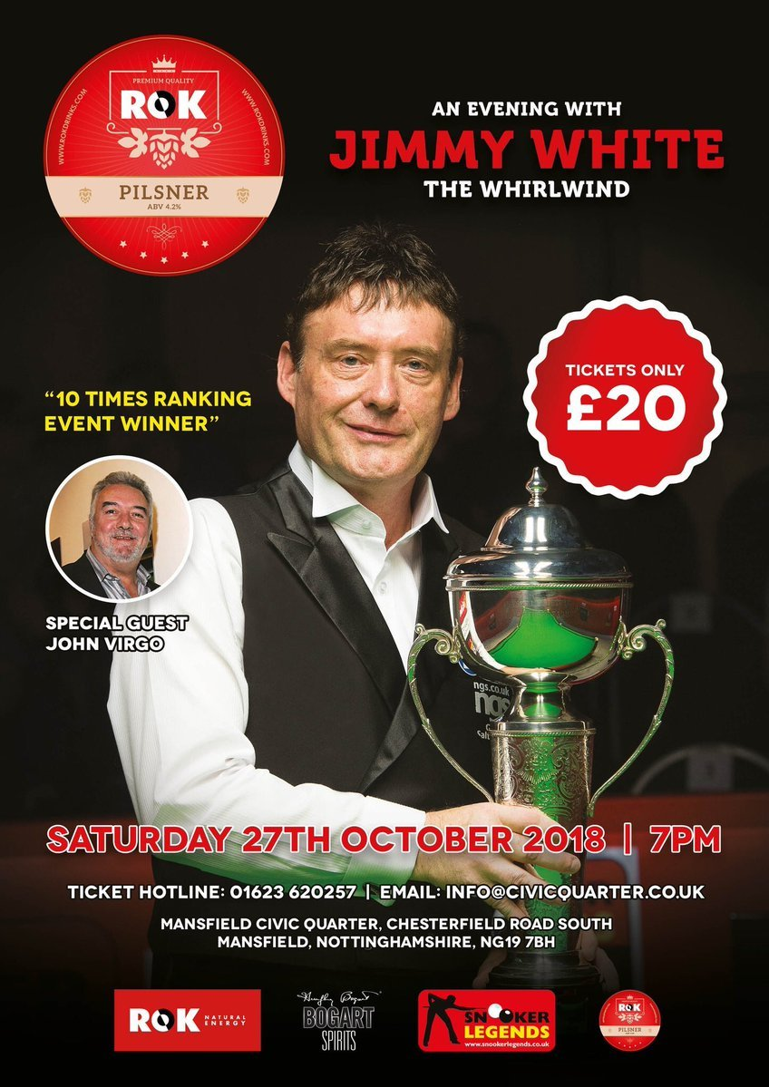 181027 Jimmy White at Mansfield Civic Quarter