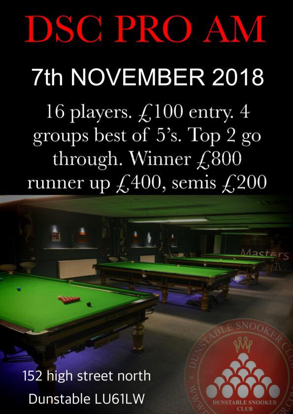 Dunstable Snooker Club Pro-Am
