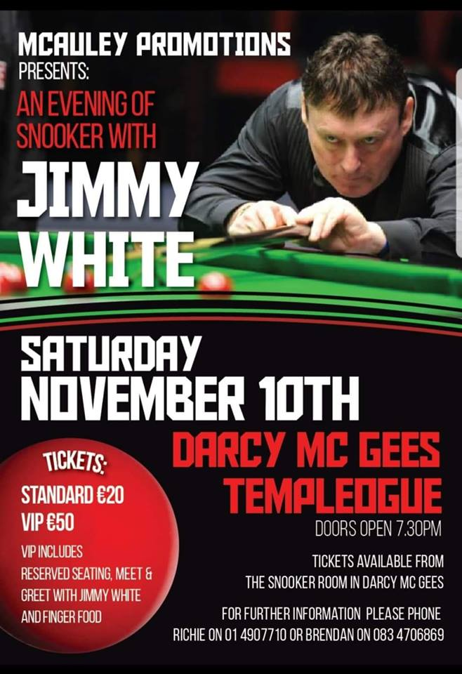 181110 Jimmy White at Darcy McGees