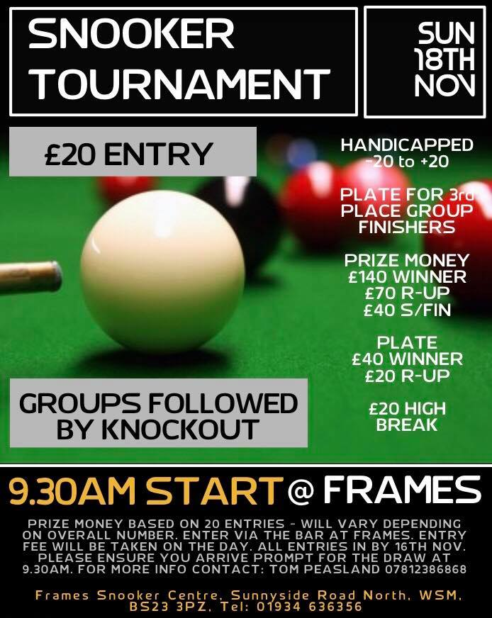 Frames Snooker Tournament Poster