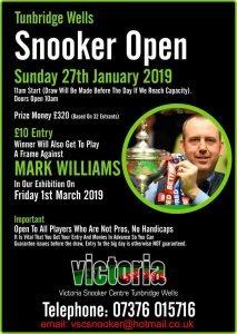 190127 Snooker Open at Victoria Snooker Centre