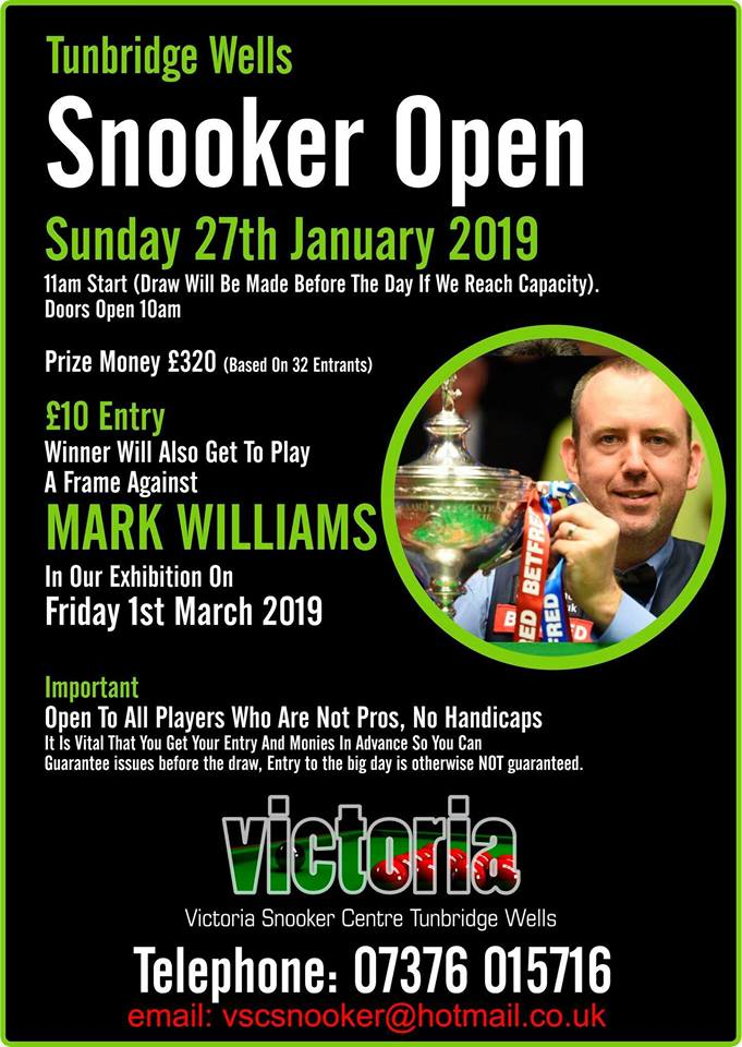 190127 Snooker Open at Victoria Snooker Centre
