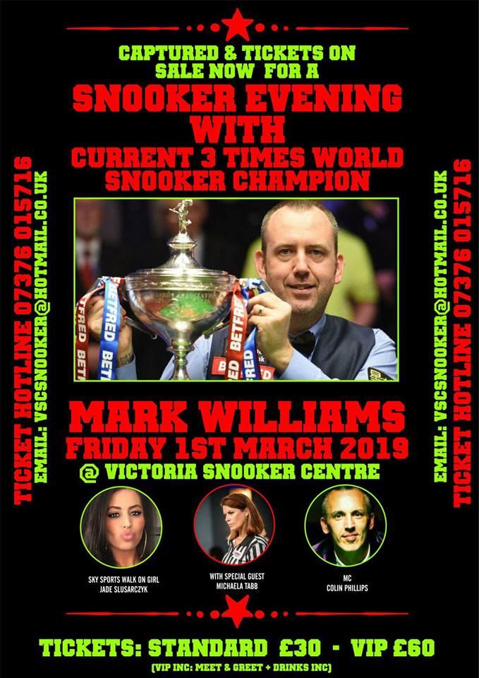 190301 Mark Williams at Victoria Snooker Centre