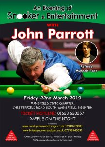 Snooker Exhibition with John Parrott at Mansfield Civic Quarter