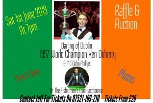 Ken Doherty at The Fisherman's Club, Eastbourne