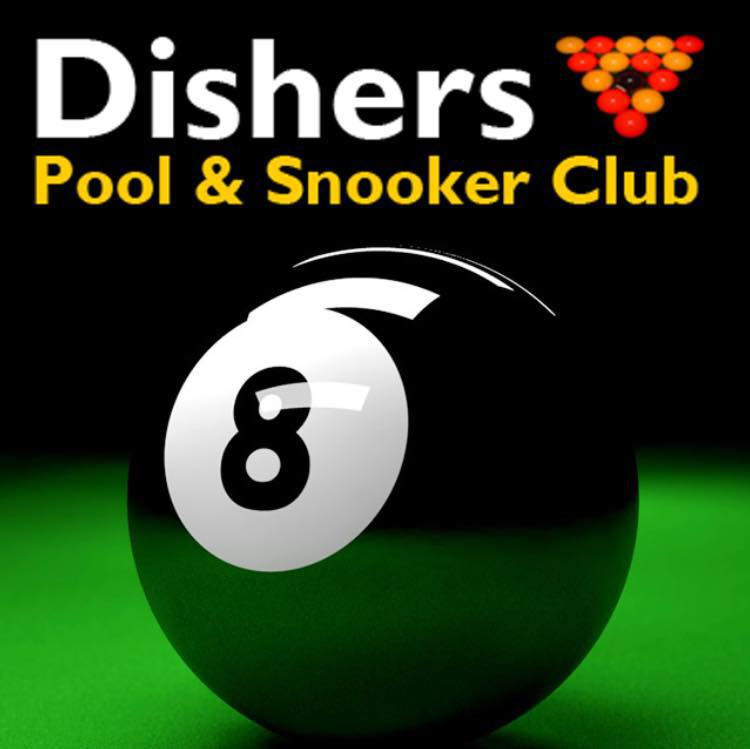 Dishers Pool and Snooker Club Logo