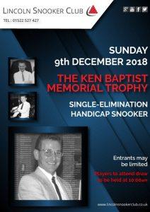 Ken Baptist Memorial Trophy 2018