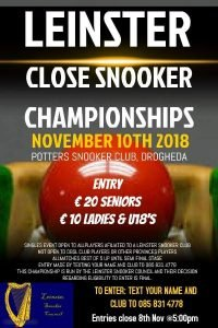 Leinster Close Snooker Championships