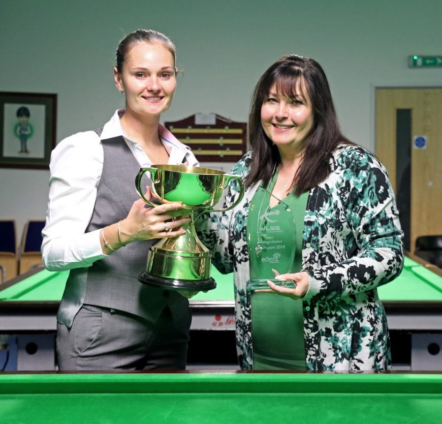Reanne Evans wins Eden Masters