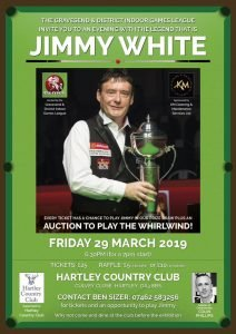 190329 Jimmy White at Hartley Country Club