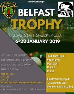 NIBSA Ranking Event 4 - Belfast Trophy