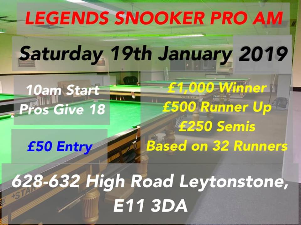 Pro-am at Legends Snooker Academy