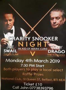 Joe Swail v Tony Drago at The National Club, Belfast