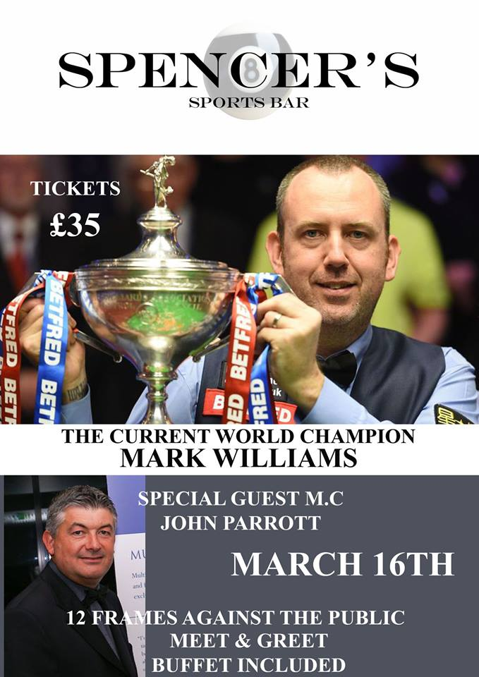 Mark Williams at Spencer's Sports Bar