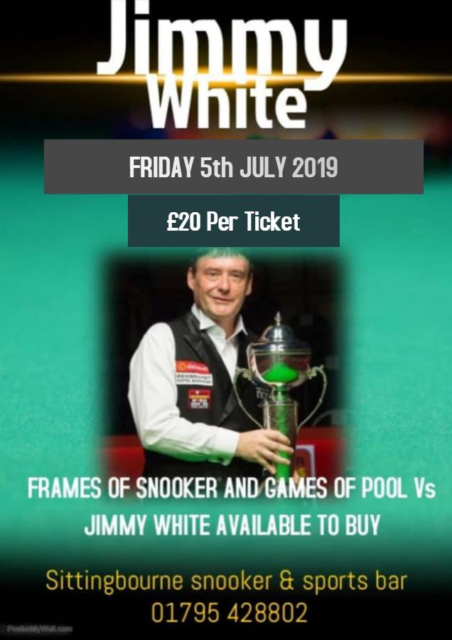 Jimmy White at Sittingbourne Snooker & Sports Bar
