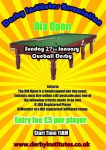 Derby Institutes Association - DIA Snooker Open