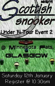Scottish Snooker Under 14 Tour Event 2