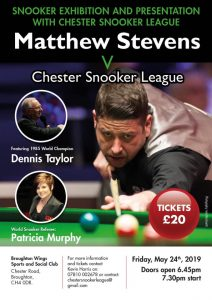 Poster for Matthew Stevens at Broughton Wings