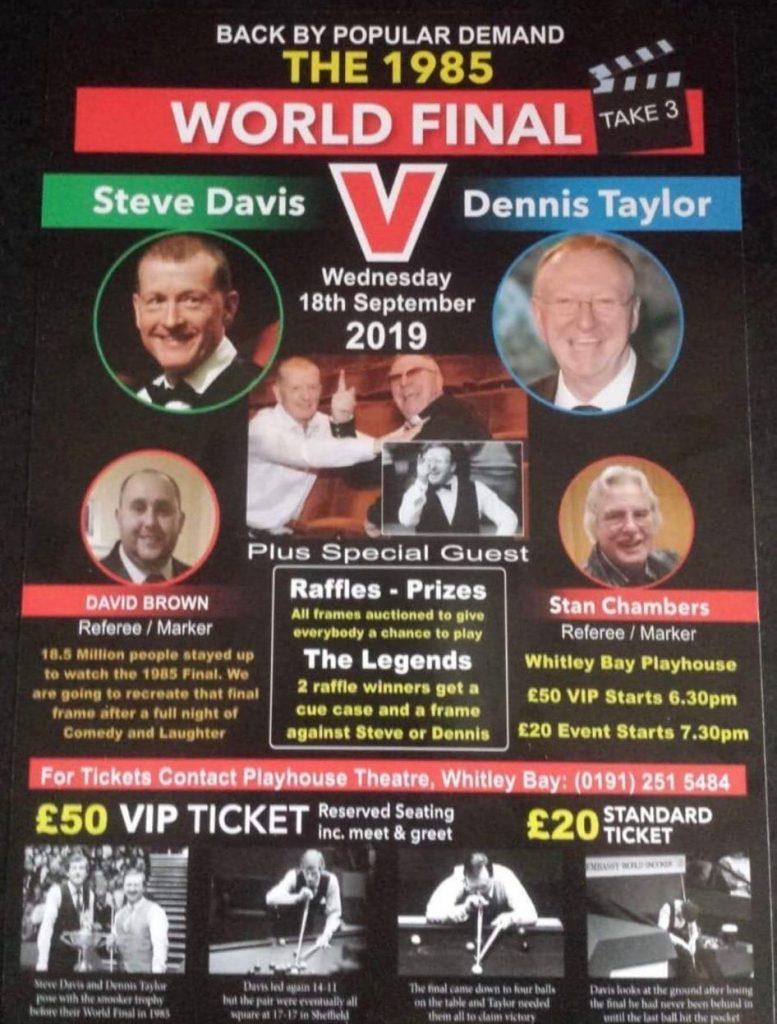 Poster for Steve Davis v Dennis Taylor