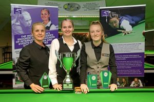 The trio of winners at the Belgian Women's Open