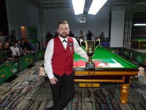 Jackson Page with the 2019 EBSA Under 21 Trophy