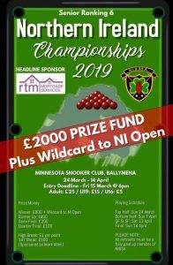 NIBSA Senior Ranking 6 Northern Ireland Championships 2019