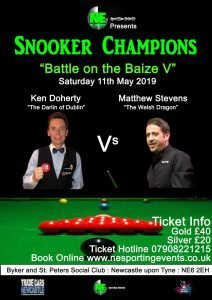 Poster for Battle on the Baize V