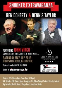 Ken Doherty and Dennis Taylor