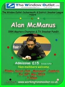 Poster for Alan McManus at Flimby Social Club