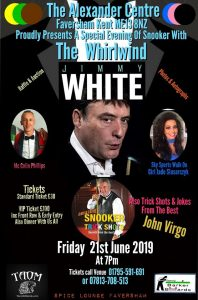 190621 Jimmy White at The Alexander Centre