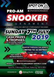 Pro-Am Snooker Tournament at Spot On Kettering