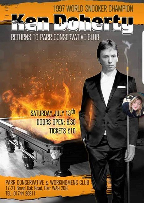 Ken Doherty at Parr Conservative and Workingmens Club