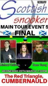 Scottish Snooker Main Tour Event 5 Final