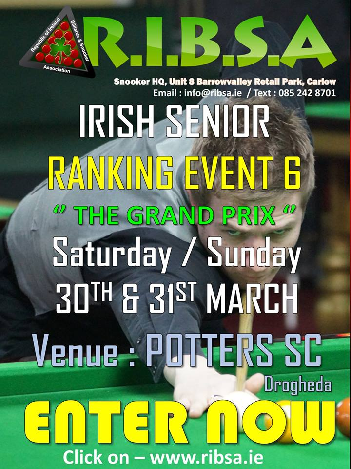 Poster for RIBSA Senior Ranking Event 6 - The Grand Prix