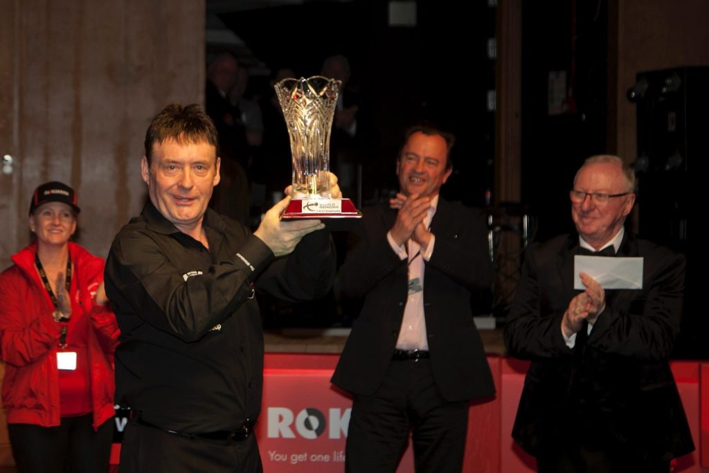 Winner - Jimmy White with the Dennis Taylor Trophy