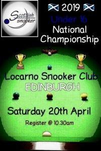 Poster for Scottish Snooker Under 16 National Championship