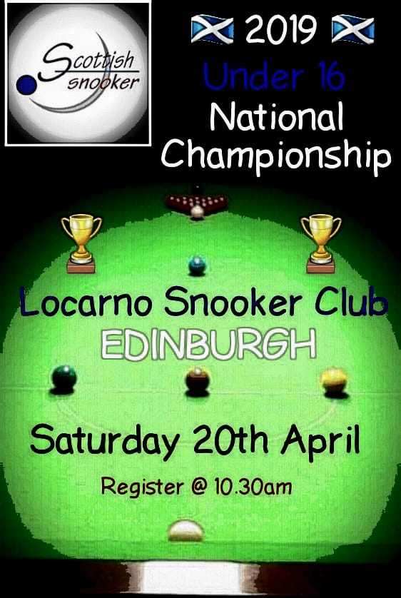 Poster for Scottish Snooker Under 16 National Championship