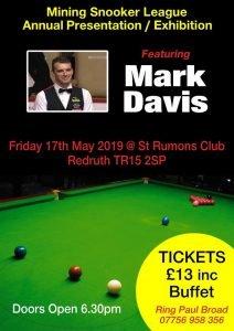 Poster for Mark Davis at St Rumons Club