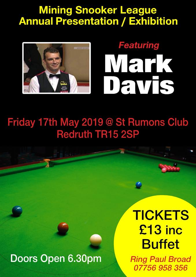Poster for Mark Davis at St Rumons Club