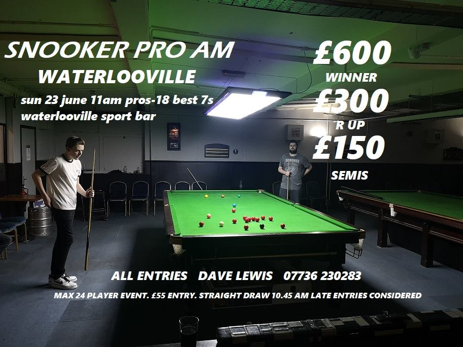 Poster for Waterlooville Snooker Pro Am