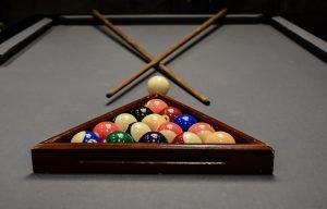 Rack of pool balls
